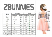 2BUNNIES Girl Peony Lace Back Long Sleeve Knee Length Straight Dress (Ivory)