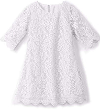2BUNNIES Girl Boho Lace Flower Girl Dress (White)