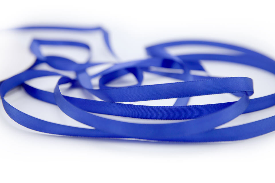 "3/8"" Royal Blue Ribbon- Satin Finish"