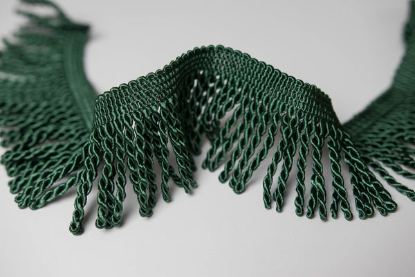 "2.5"" Forrest Green Bullion Fringe"