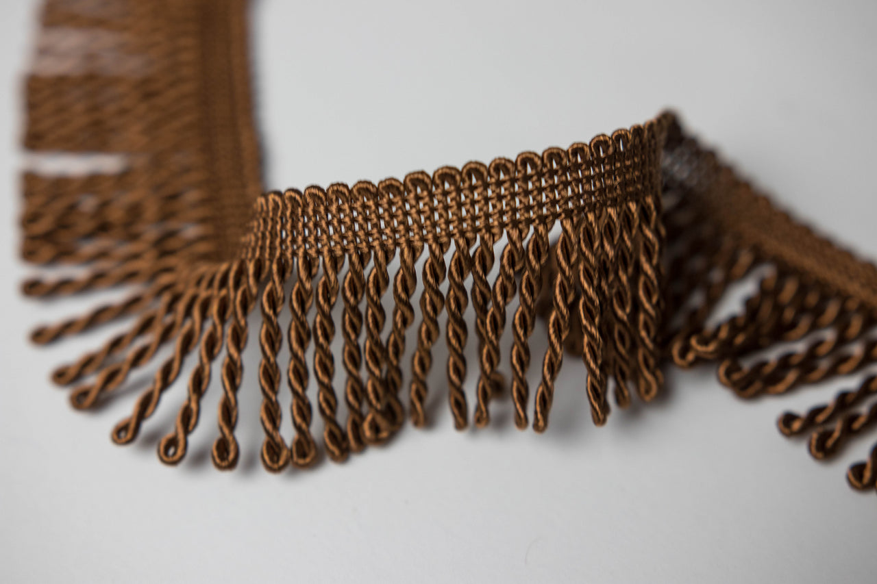 "1.5"" Brown Bullion Fringe"