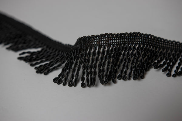 "1.5"" Black Bullion Fringe"