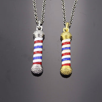 Barber Pole Pendant with Necklace