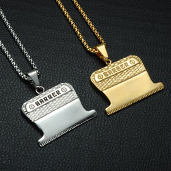 Barber Clip Pendant with Necklace
