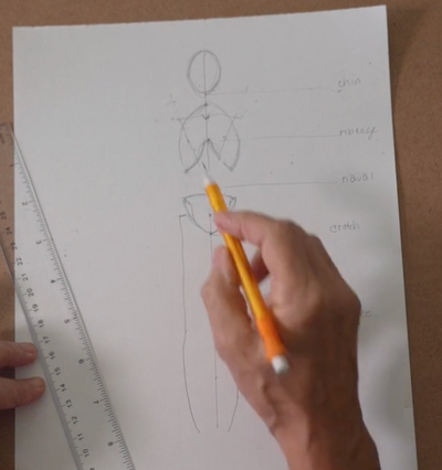 Sketching the Human Body Lesson