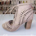 Laser Cut Out Heels