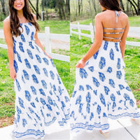 Paisley Open Back Dress