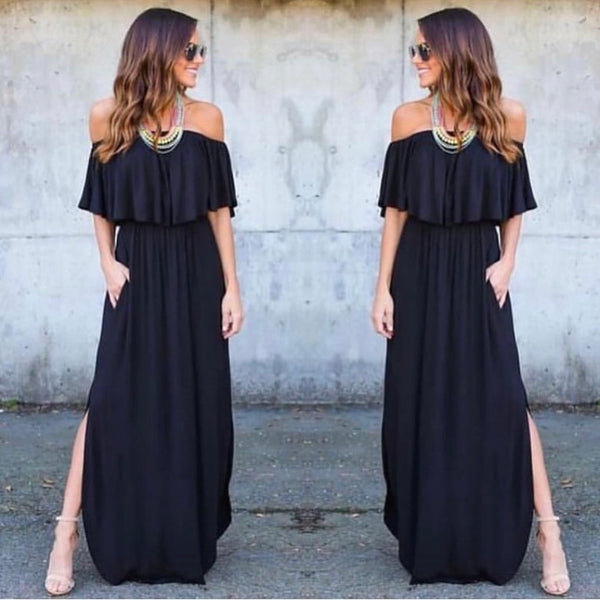 Off The Shoulder Ruffle Dress