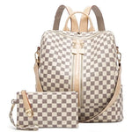 Preorder - Checkered Convertible Backpack Bag
