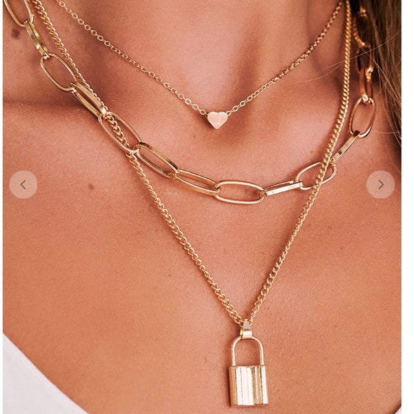 Love Lock Boho Statement Necklace