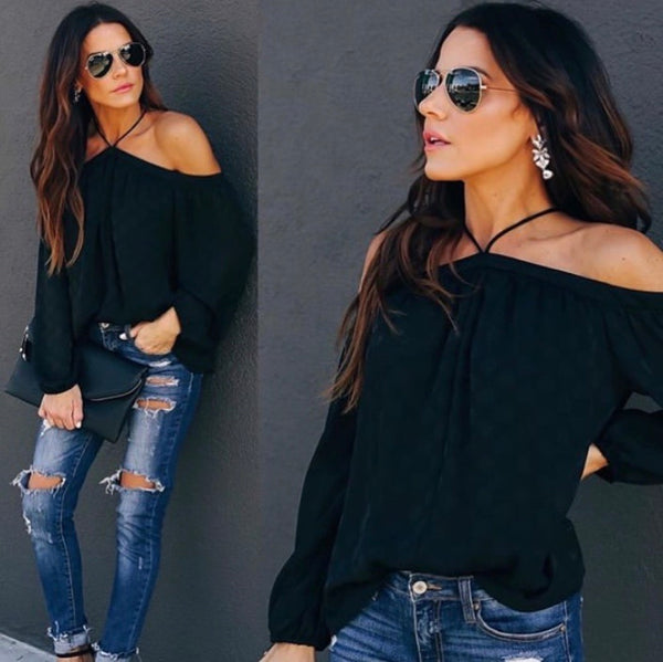Black Beauty Detailed Blouse