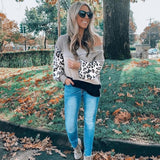 Preorder - Color Block Leopard Thermal Top