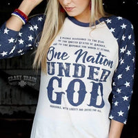 One Nation Under God Baseball Tee