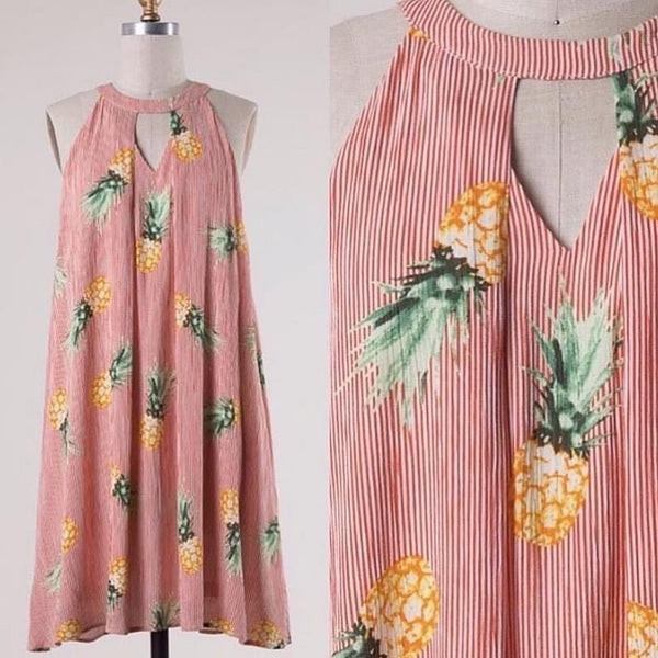 All Over Pineapple Dress