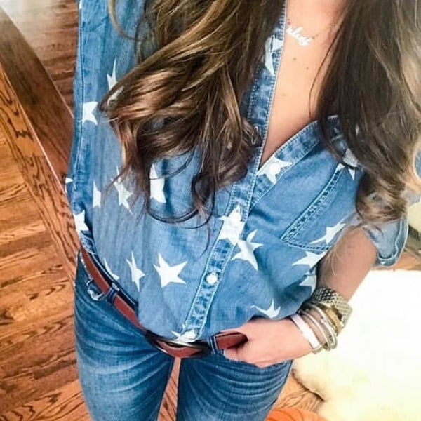 Star Button Down