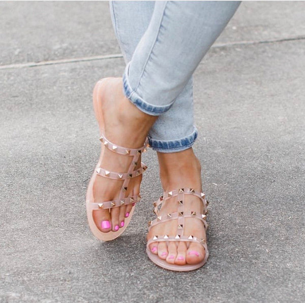 Comfort And Style Studded Sandals
