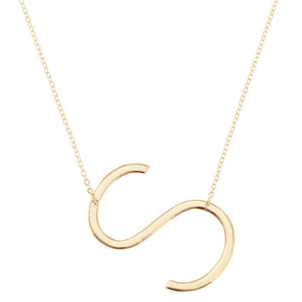 Gold S Initial Statement Necklace