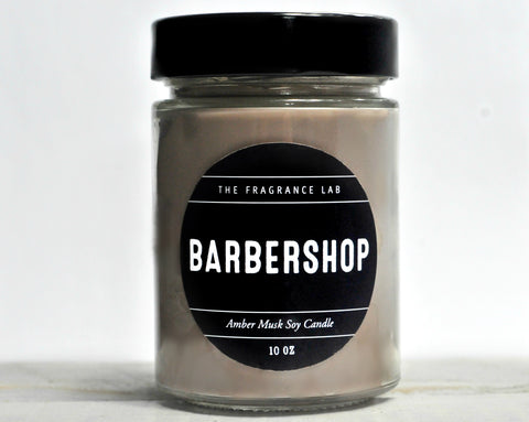 "Soy Candles - ""Barbershop"" Amber & Musk Scented"