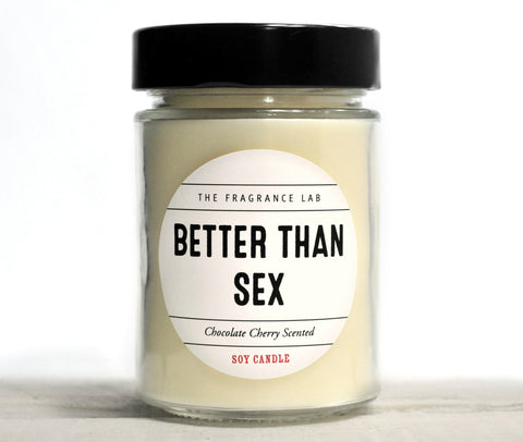 """Better Than Sex"" Chocolate Covered Cherry Scented Soy Candle"