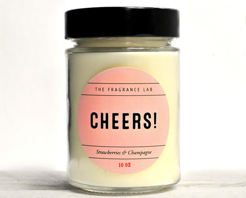 "Soy Candles - ""Cheers!"" Champagne & Strawberries Scented"