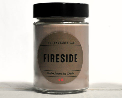 "Soy Candles - ""Fireside"" Fireplace Scented"