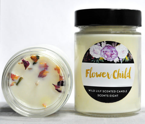 Flower Child Soy Candle - Wild Lily Scented