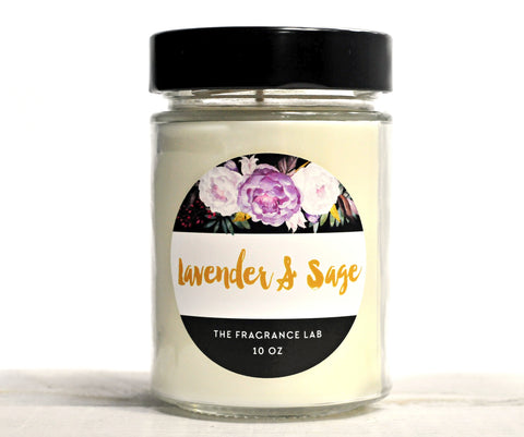 Soy Candles - Lavender & Sage Scented