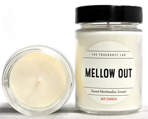 Mellow Out Soy Candle - Toasted Marshmallow Scented