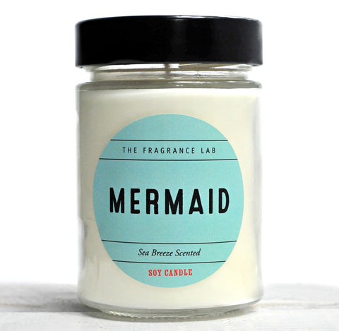 """Mermaid"" - Sea Breeze Scented Soy Candle"