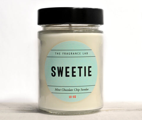 Sweetie Soy Candle - Chocolate Chip Mint Sundae Scented