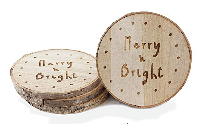 Wooden Christmas Coasters