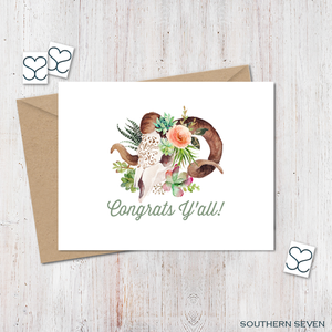 Southwest Congrats Yall Greeting Card
