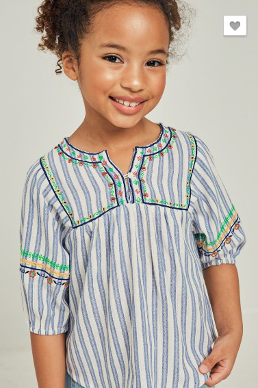Baker Peasant Top (Girls)