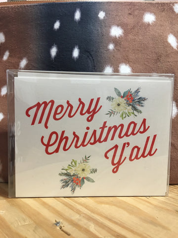 Merry Christmas Y'all Greeting Card