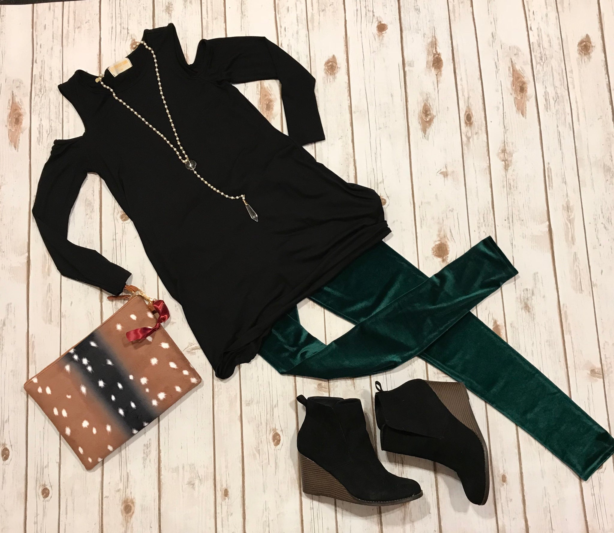 Emerald Velvet Leggings