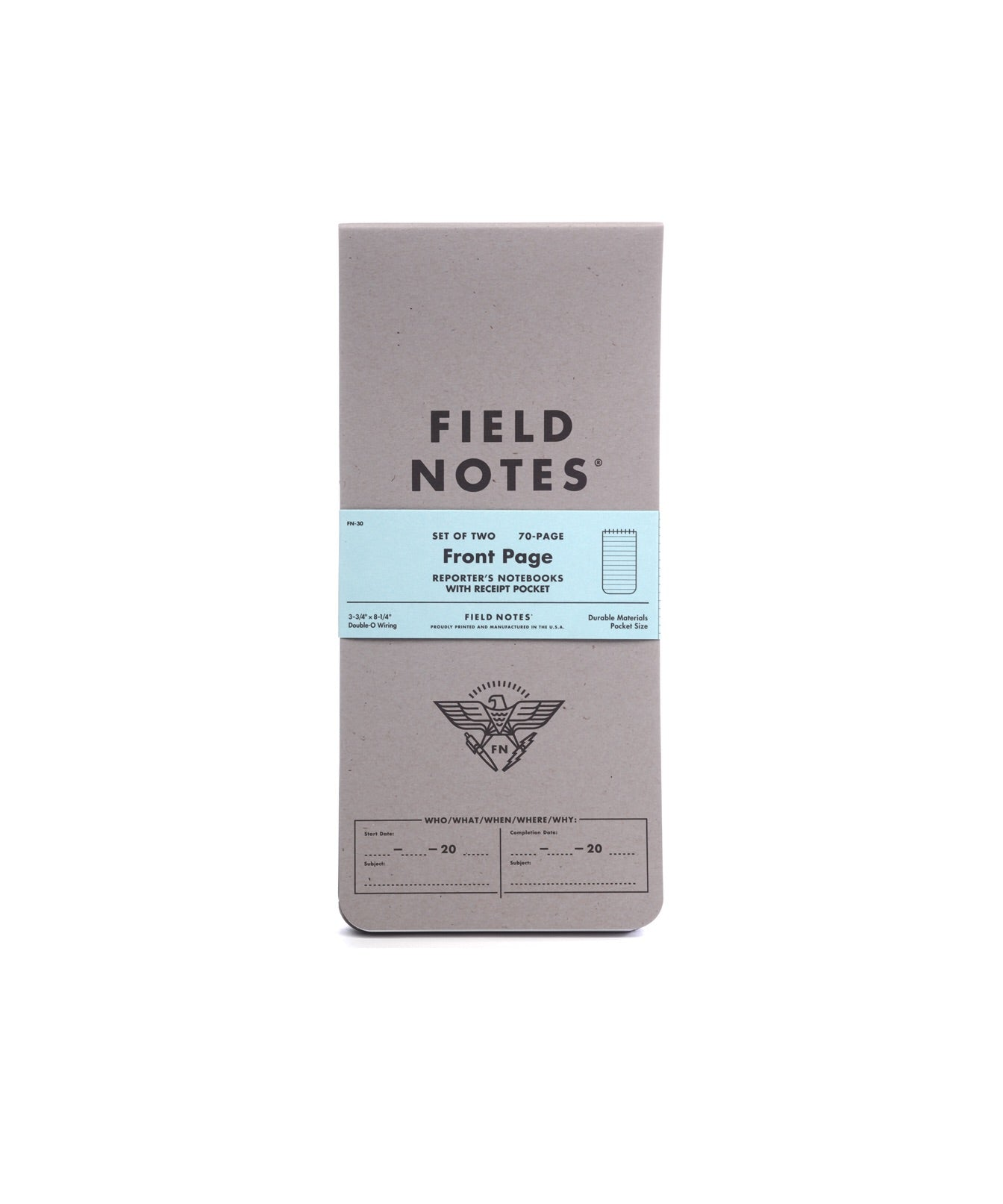Field Notes Front Page Notebook