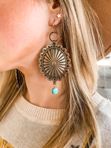 J. Forks Concho Dangle Earrings