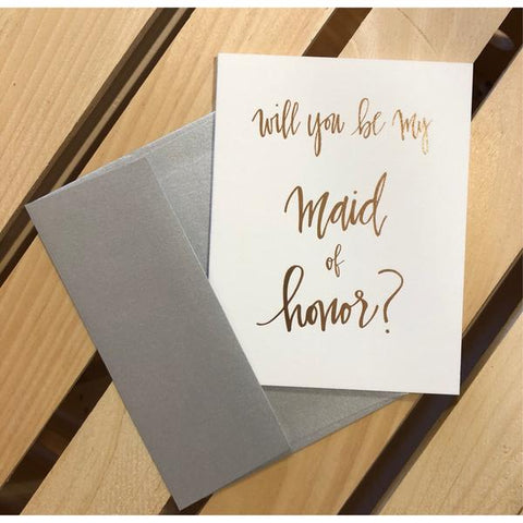 Maid Of Honor Proposal Greeting Card