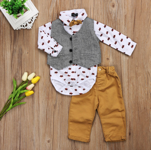 3-Piece Toddler Suit with Vest