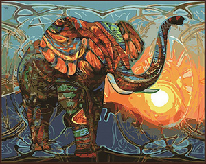 "Elephant DIY Painting By Numbers (16""x20"" / 40x50cm)"