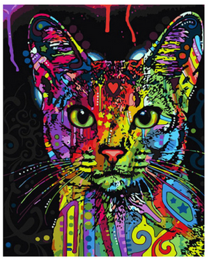 "Colorful Cat DIY Painting By Numbers (16""x20"" / 40x50cm)"
