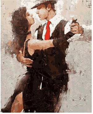 "Passionate Tango DIY Painting By Numbers (16""x20"" / 40x50cm)"