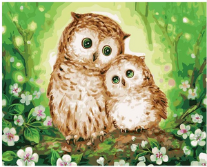 "Sweet Owls DIY Painting By Numbers (16""x20"" / 40x50cm)"