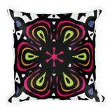 Big Flower Square Pillow