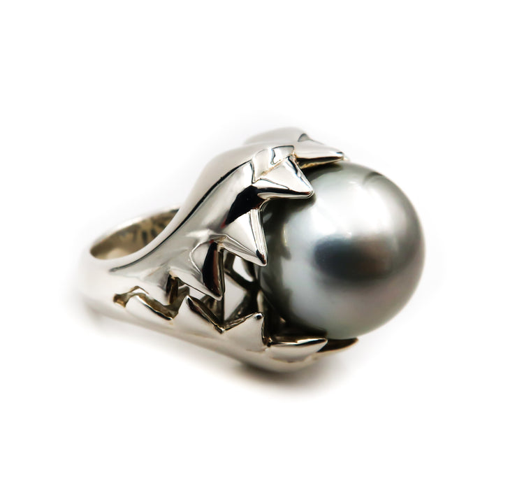 Silvertip Shark Ring