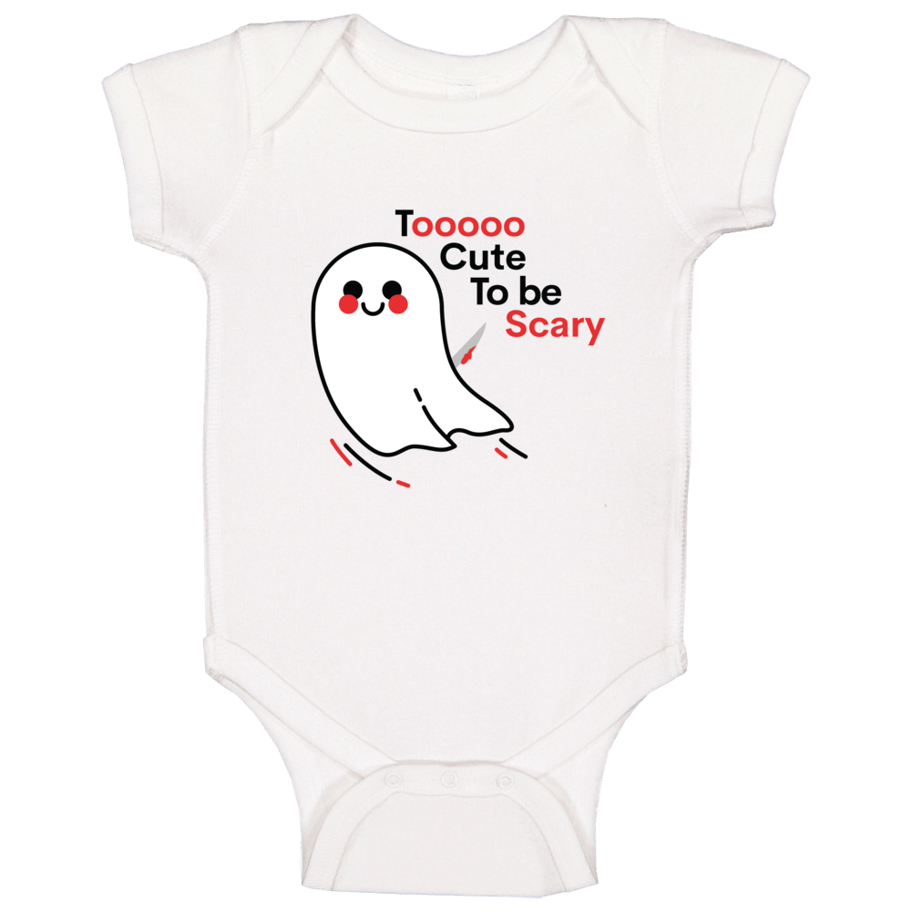 Too Cute To Be Scary Baby One Piece