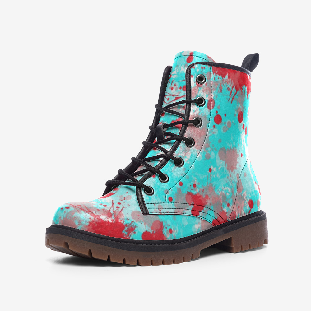 Casual Leather Lightweight boots MT Paint Splash