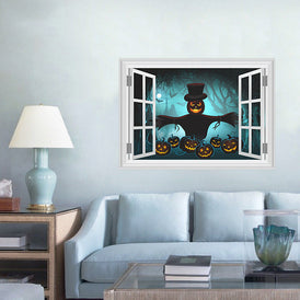 2018 Halloween Witch Pumpkin Wall Sticker Creative