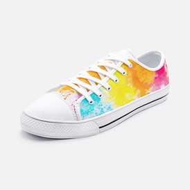 Unisex Low Top Canvas Shoes Color Splash 2020