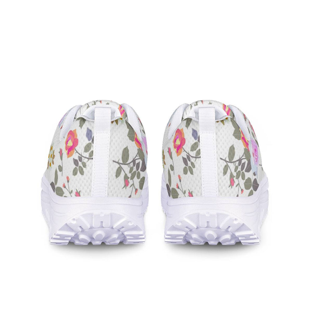 women floral shoes Mesh Heightening Rocking Shoes